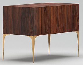 Wooden night stand table 3D model
