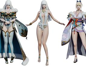 Girl White Snow 3in1 3D asset