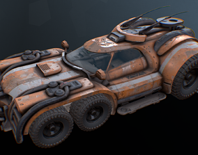 3D asset Marauder - Derelict Tug Vehicle