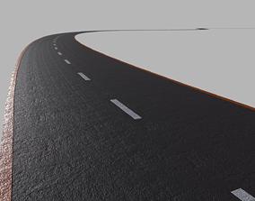 3D model realtime Asphalt Road - PBR