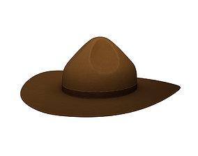 3D model Drill Sergeant Hat