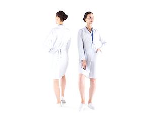 Medical nurse 10 3D asset