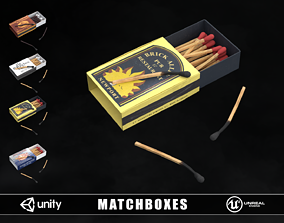 3D model Matchboxes and Matches