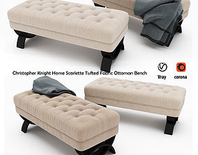 Christopher Knight Home Scarlette Tufted Fabric 3D model 1