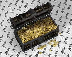 3D Chest With Golden Coins