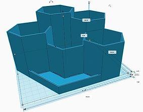 3D printable model 6 Piece Self-Watering Planter