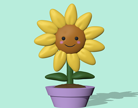Cute Sunflower 3D print model