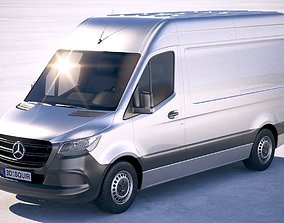 3D model Mercedes-Benz Sprinter Standard 2019