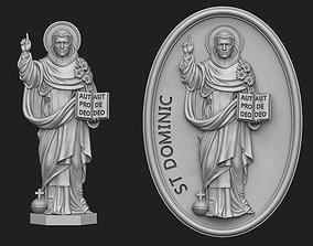 3D printable model Saint Dominic Relief Set