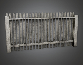 3D model Outdoor Fence 15 GFS - PBR Game Ready