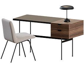 Mid Century Office Set by Ligne Roset 3D model