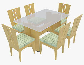 Dining Table With Chairs 3D model