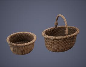 Basket Set Low Poly Game Ready 3D model
