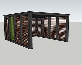 3D printable model Wooden carport