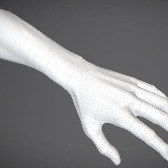 VR player hand