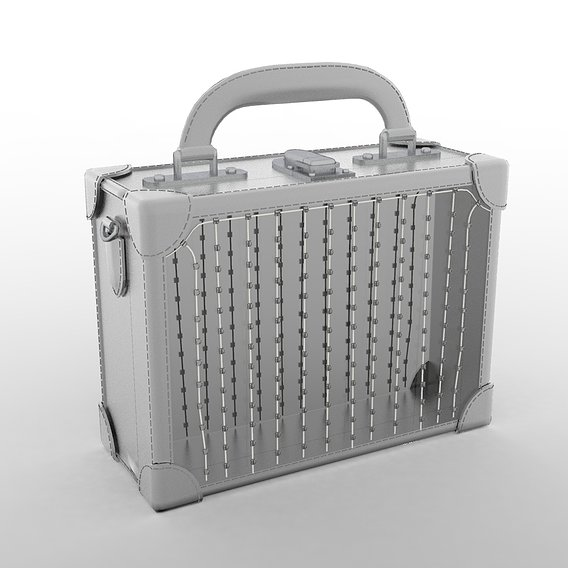 Area Crystal Box Bag in Silver