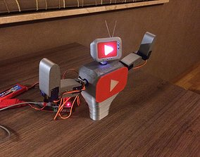 3D printable model Youtube mascot robot