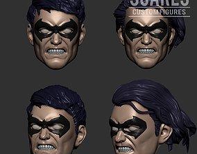 Nightwing - Robin 2 Pack head 3d print model
