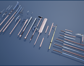 3D asset Japanese Weapon Collection