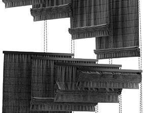 3D Black blinds