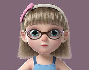 3D Cartoon Girl NoRig