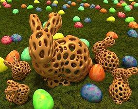 3D print model Stanford Bunny - Voronoi Style