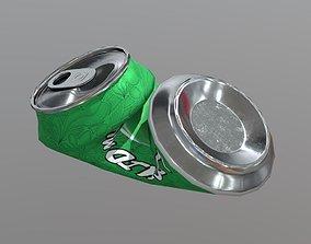 3D asset Beverage Can Deformed 2 - Liquid Mushroom