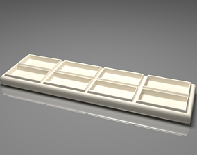 White Chocolate Bar 4 3D model