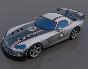 Dodge viper 3D asset VR / AR ready