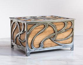 Casket with metal elements 3D