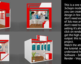 exhibition architectural Exhibition stall 3d model