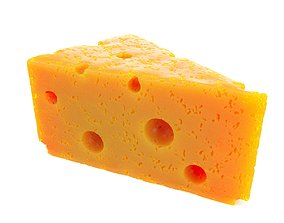 3D Slice of Cheese