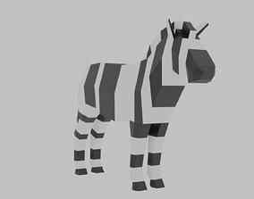 Zebra Rigged 3D asset