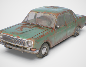Old Soviet Car Set 3D asset