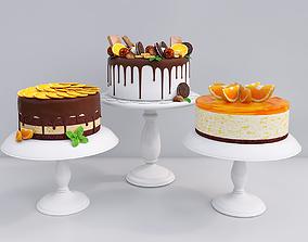 3D model Orange cake collection