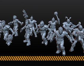 wasteland gangers 3D print model