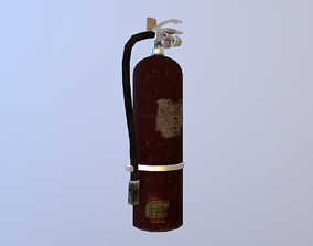 Dirty Fire Extinguisher 3D model