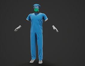Male Doctor Uniform Nurse surgeon 3D