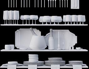 kitchen 3D asset low-poly Kitchen set