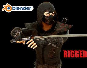 ninja 3D model rigged VR / AR ready