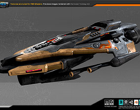 3D asset SF Guardian Frigate