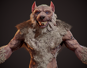WereWolf Wild Realistic 3D model