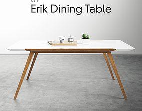 Kure Erik Dining Table Ash Wood 3D