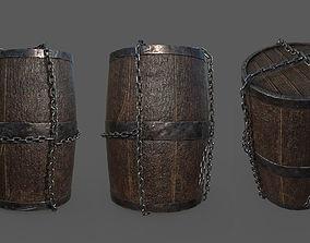 Barrel and Barrel Pieces 3D model