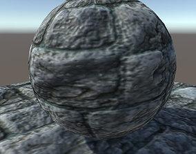 rock wall texture material 2 3D