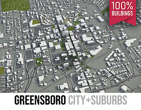 3D asset Greensboro - City and Suburbs