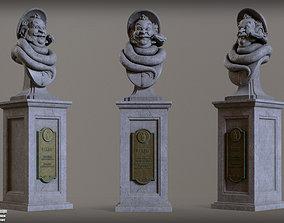 Haunted Mansion Bertie 3D Printable Bust DELUXE