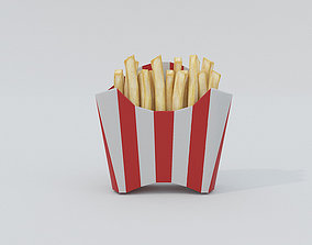 French Fries Low Poly 3D model game-ready