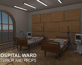 3D model Hospital ward - interior and props