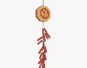 3D model Chinese New Year Firecracker